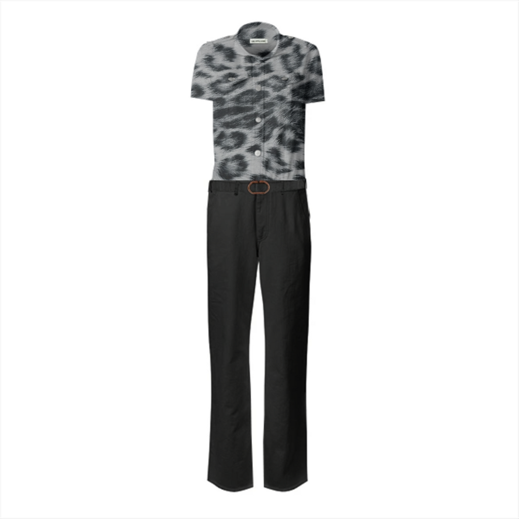 womens cheetah jumpsuit