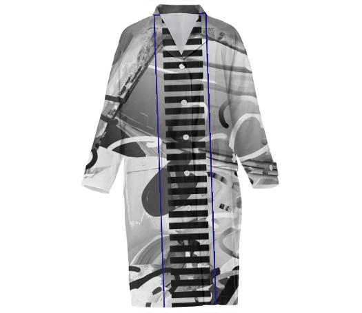 PAOM, Print All Over Me, digital print, design, fashion, style, collaboration, ilanasavdie, Cotton Trench, Cotton-Trench, CottonTrench, Grayscale, bar, autumn winter, unisex, Cotton, Outerwear