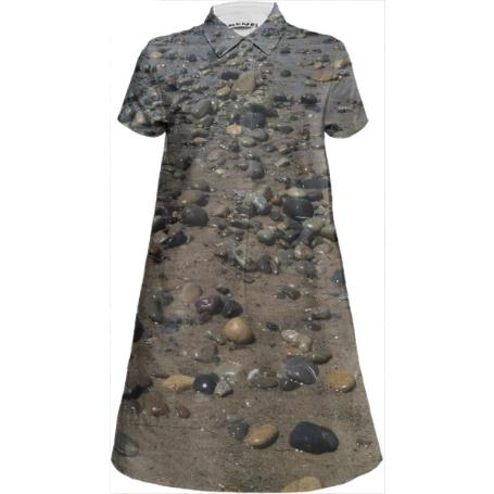 Beach Rocks Shirt Dress