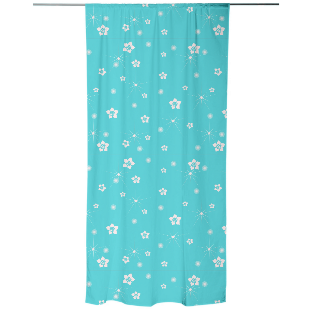 Abstract Flowers Explosion Curtain