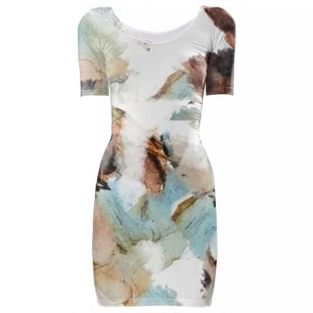 Ink Water Bodycon Dress