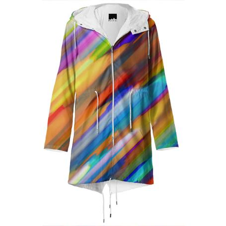 Colorful digital art splashing G391 RAINCOAT
