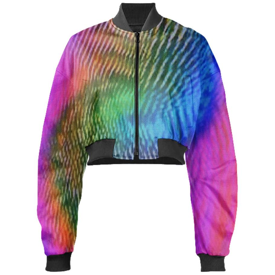 Holo Port Cropped Bomber