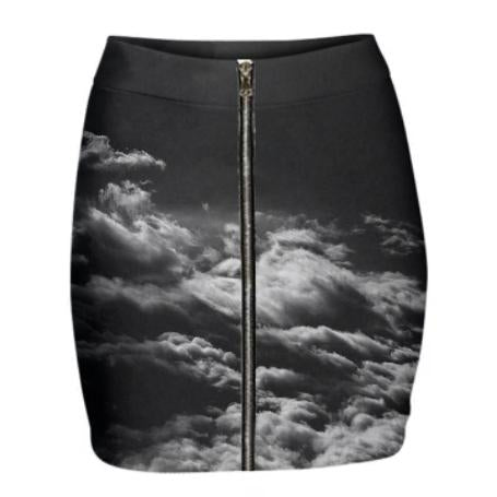 SV Black and White Mini Skirt