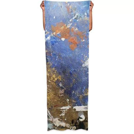 Abstract Multicolor Splatter Paint Scarf