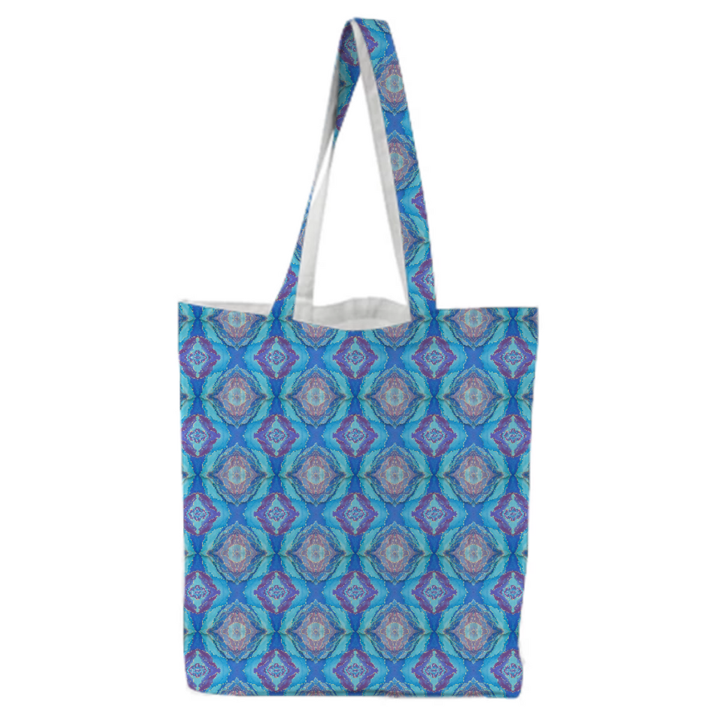 Dreamy Blue Canvas Tote