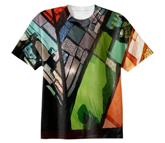 t shirt Stained Glass Fabric Amanda Browder