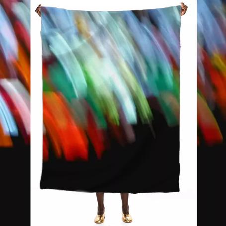 Big Stained Glass Silk Scarf