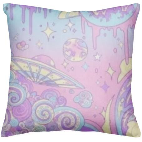 pastel trippy pillow