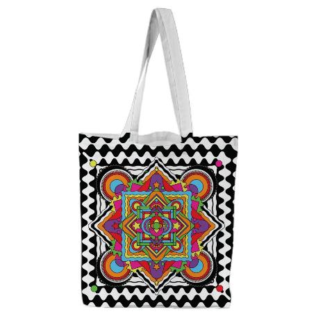 PAOM, Print All Over Me, digital print, design, fashion, style, collaboration, paomcollabs, Tote Bag, Tote-Bag, ToteBag, Mandala, autumn winter spring summer, unisex, Poly, Bags