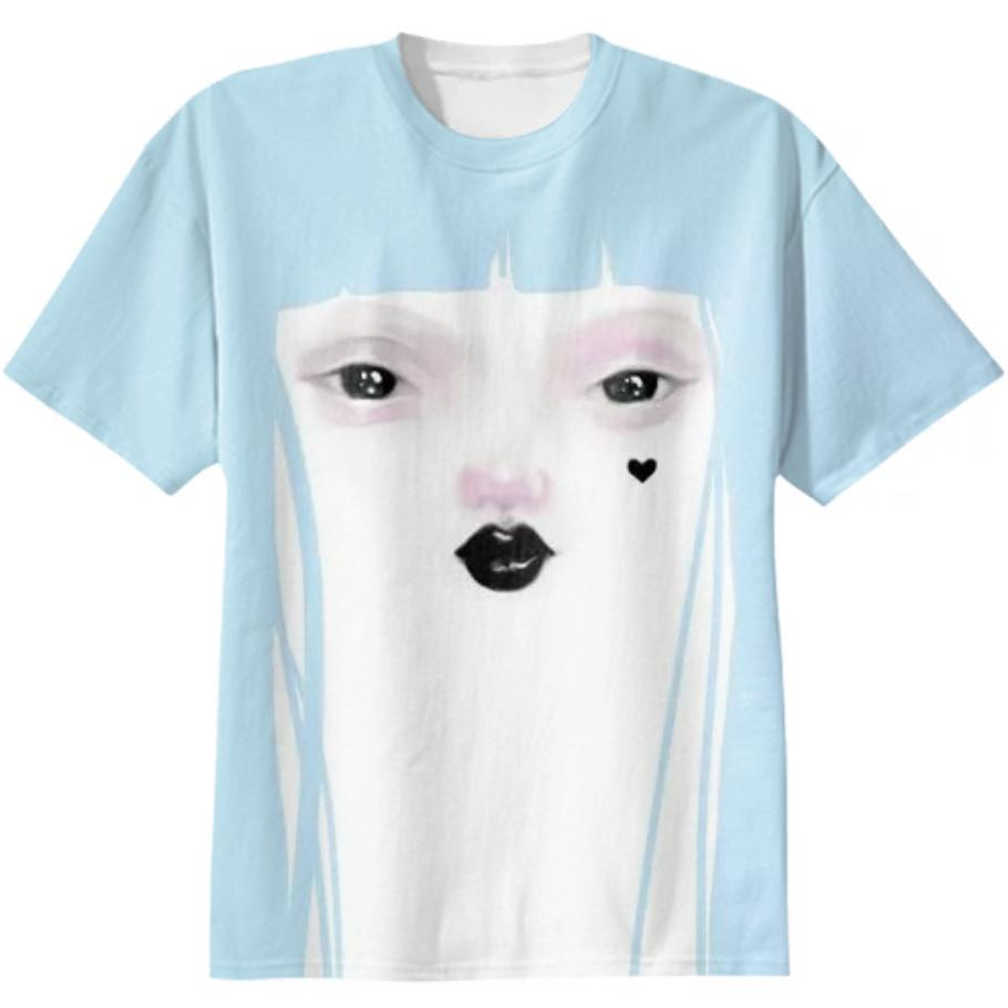 Pidgin Doll T Shirt blue