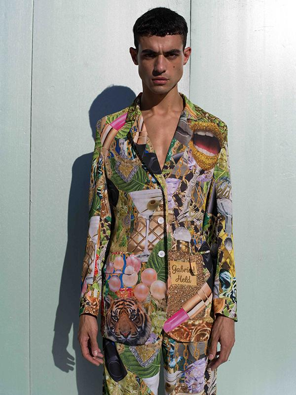 PAOM, Print All Over Me, digital print, design, fashion, style, collaboration, gabrielheld, Gabriel Held Chiffon Blazer, Gabriel-Held-Chiffon-Blazer, GabrielHeldChiffonBlazer, Collage, autumn winter spring summer, unisex, Poly, Tops