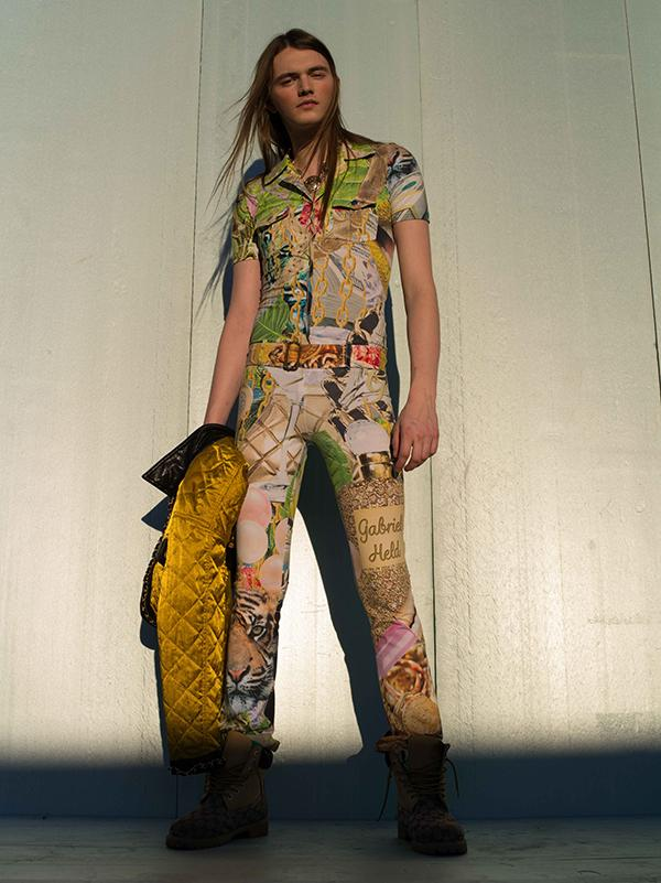 PAOM, Print All Over Me, digital print, design, fashion, style, collaboration, gabrielheld, Gabriel Held Belted Jumpsuit, Gabriel-Held-Belted-Jumpsuit, GabrielHeldBeltedJumpsuit, Collage, autumn winter spring summer, unisex, Cotton, One Piece