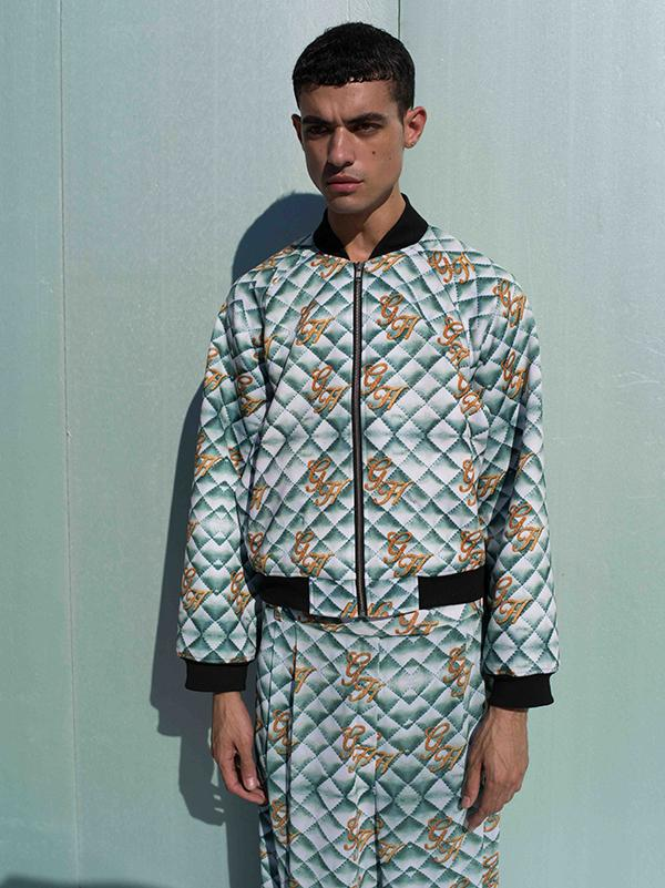 PAOM, Print All Over Me, digital print, design, fashion, style, collaboration, gabrielheld, Gabriel Held Cropped Bomber Jacket, Gabriel-Held-Cropped-Bomber-Jacket, GabrielHeldCroppedBomberJacket, Neoprene, Quilted, Print, autumn winter, unisex, Neoprene, Outerwear
