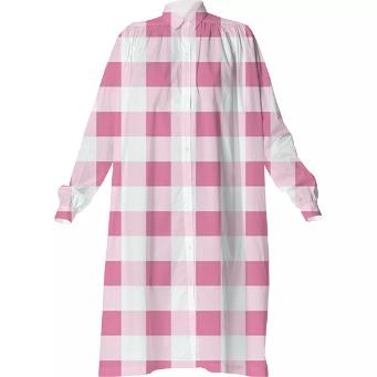 PETAL PINK GINGHAM Shirtdress
