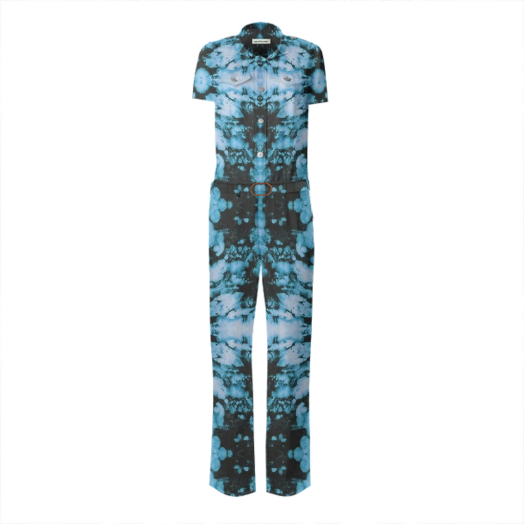 acid wash blue jumpsuit