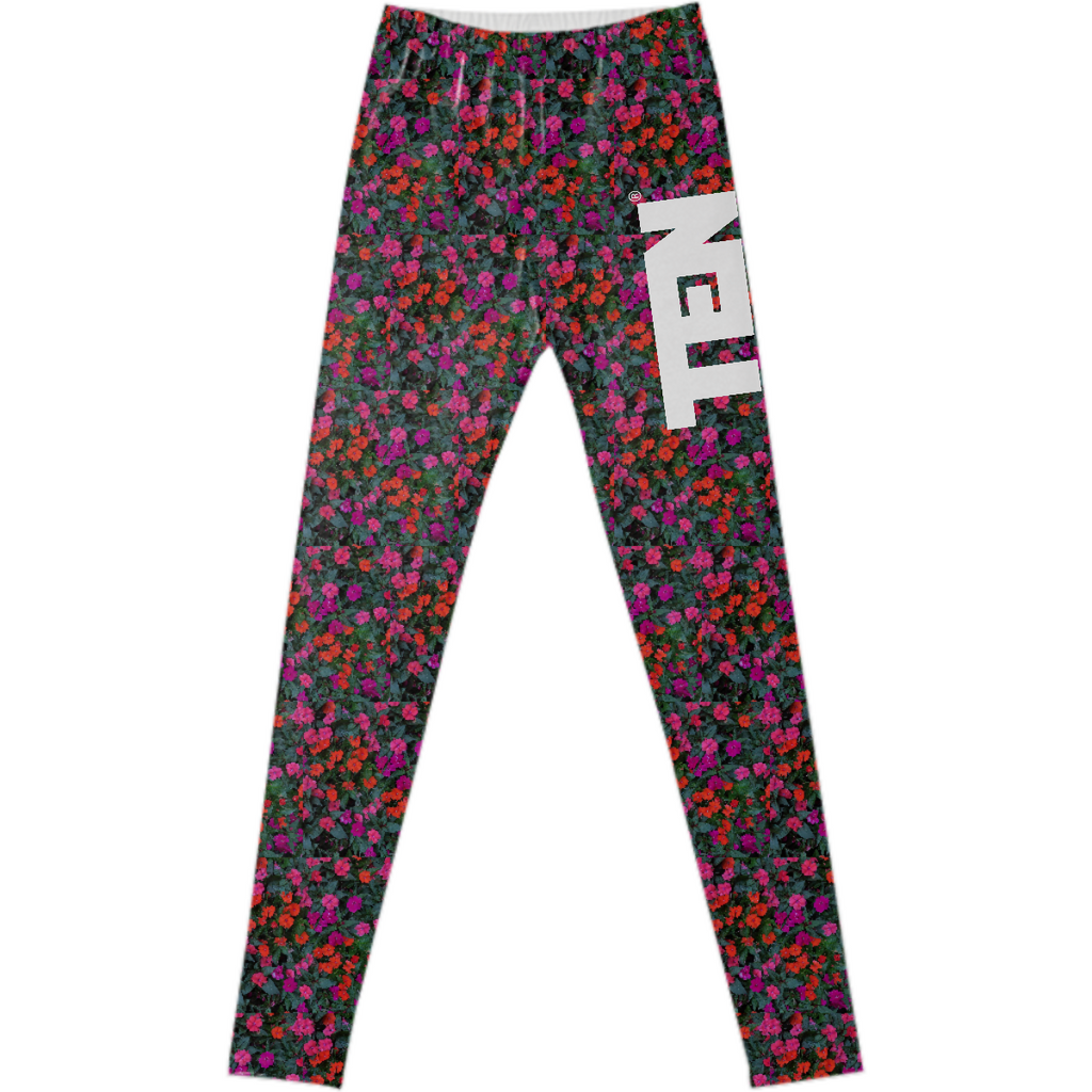 Chicago Flowers leggings 1