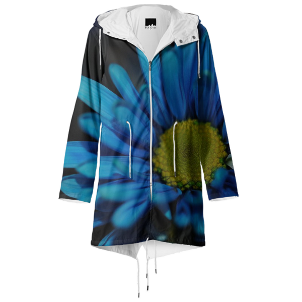 Blue Daisy Raincoat