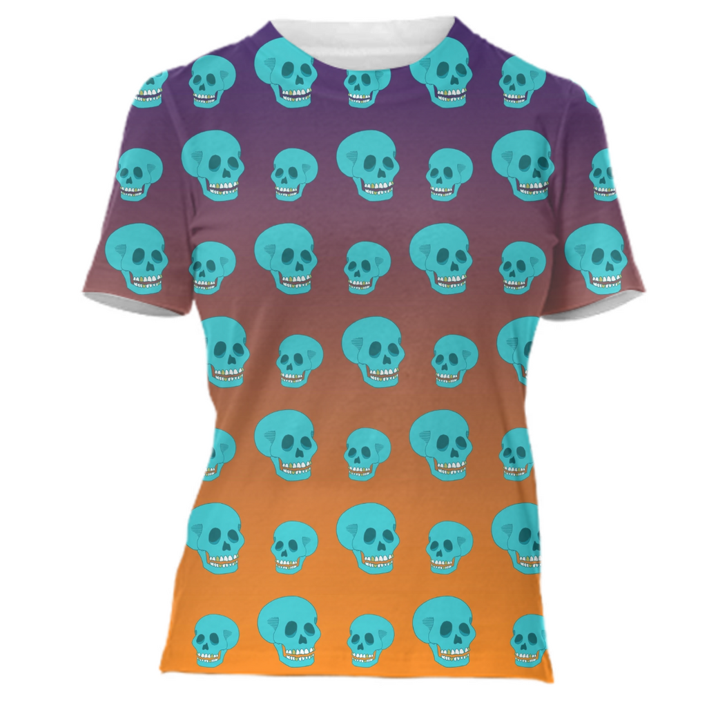 Ahh Sweet Gradient Sunset Skulls