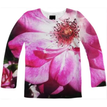 Magenta Flower Long Sleeve Tee