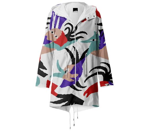 PAOM, Print All Over Me, digital print, design, fashion, style, collaboration, gambette, Raincoat, Raincoat, Raincoat, Bird, Paradise, Rain, Jacket, spring summer, unisex, Poly, Outerwear