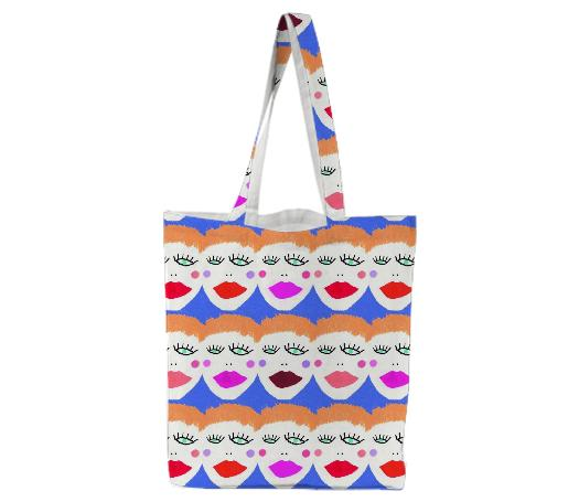 Big Girls Faces Tote Bag
