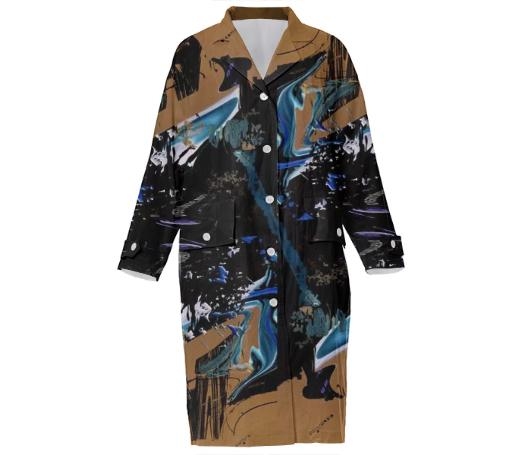 PAOM, Print All Over Me, digital print, design, fashion, style, collaboration, ilanasavdie, Cotton Trench, Cotton-Trench, CottonTrench, Apocalypse, coat, autumn winter, unisex, Cotton, Outerwear