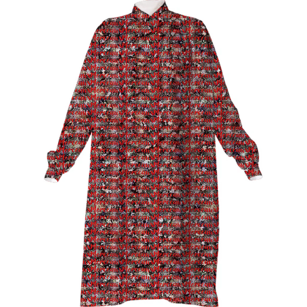 Morceaux Python Logo Shirt Dress