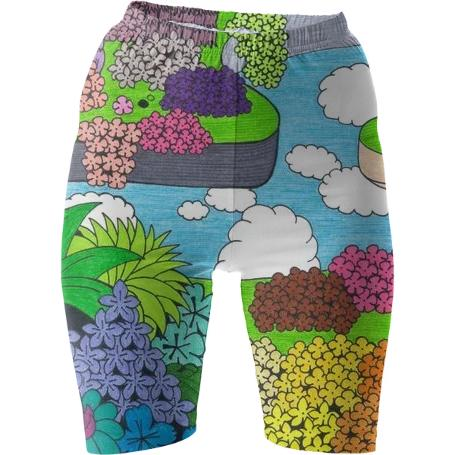 Above the Sky Bike Shorts