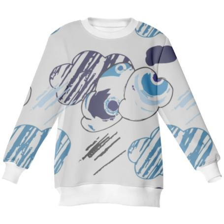 Neoprene sweatshirt cloud