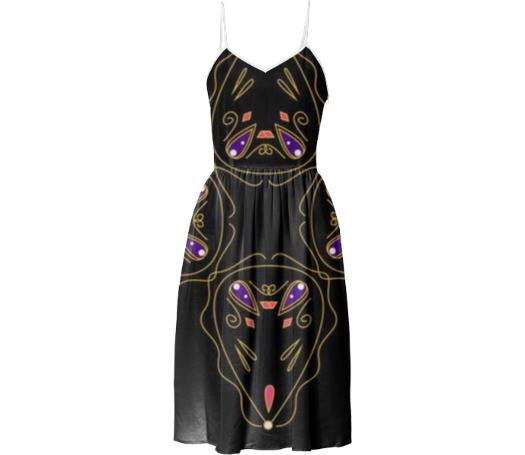 Luxury Dress black with Gold Ornaments