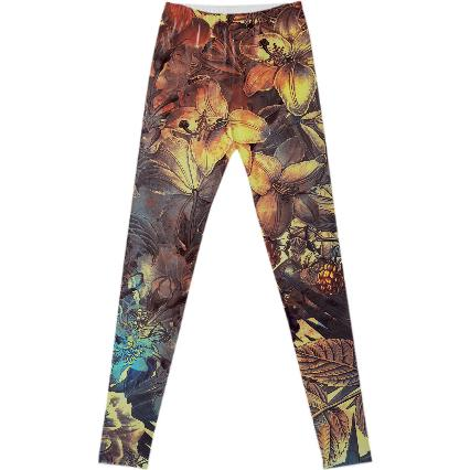 flowers fancy leggings