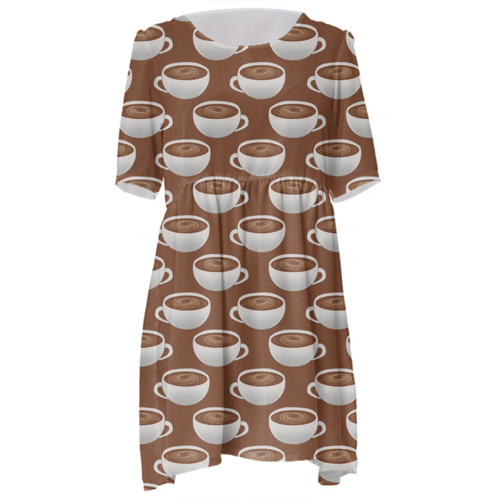 Coffee On Coffee Babydoll Dress