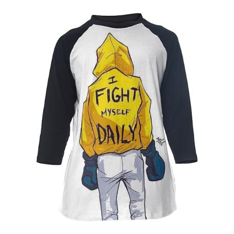 Fight Daily Baseball Tee