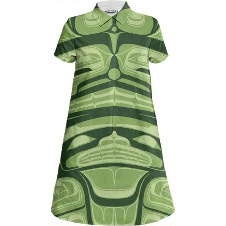 Spring GreenWatches Water Mini Shirt Dress