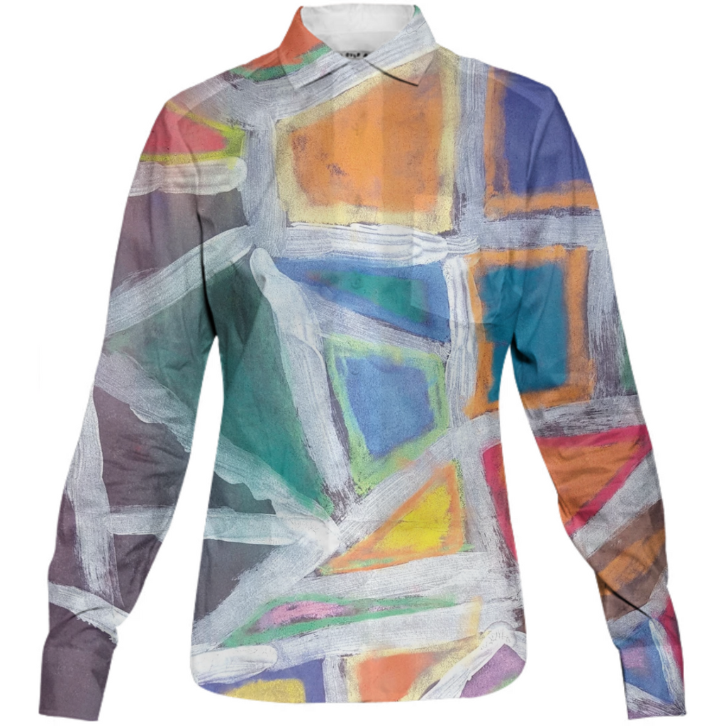 Abstract Womens Button Shirt