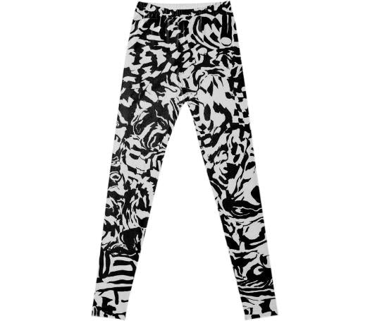 PAOM, Print All Over Me, digital print, design, fashion, style, collaboration, muffybrandt, Leggings, Leggings, Leggings, Adult, fancy, legging, warped, checkers, autumn winter spring summer, unisex, Spandex, Bottoms