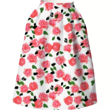 Abstract Rose Skirt