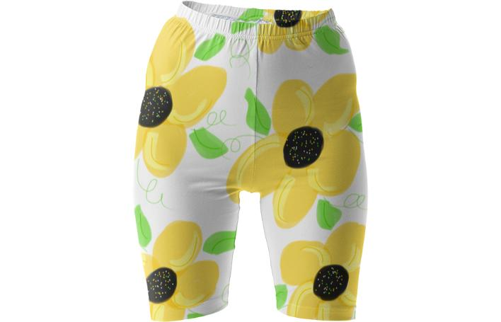 Bike Shorts In Citrus Floral