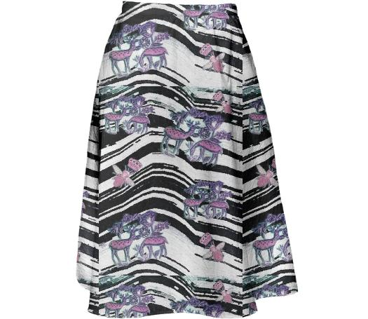 TRACY PORTER BEES KNEES MIDI SKIRT