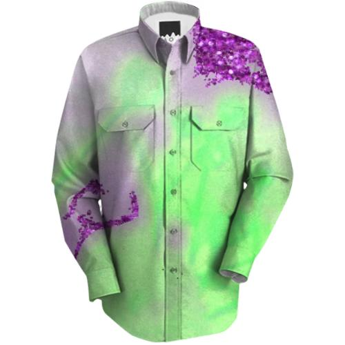 Green Psychedelic Dream Workshirt
