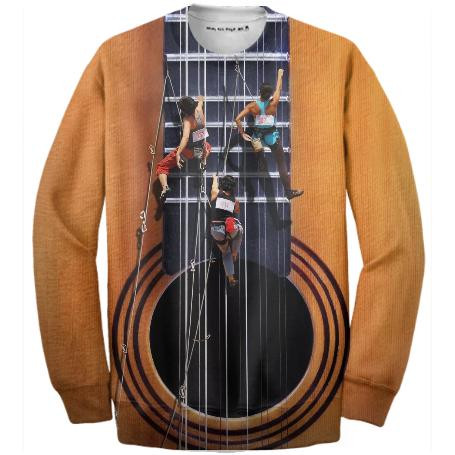 Surreal Guitar Climbers Ribbed Sweatshirt
