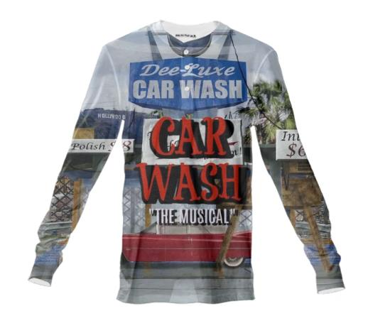 Car Wash The Musical Crew Neck Henley Shirt