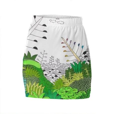 Verde Mini Tube Skirt