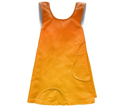 Copper Mustard Apron Dress