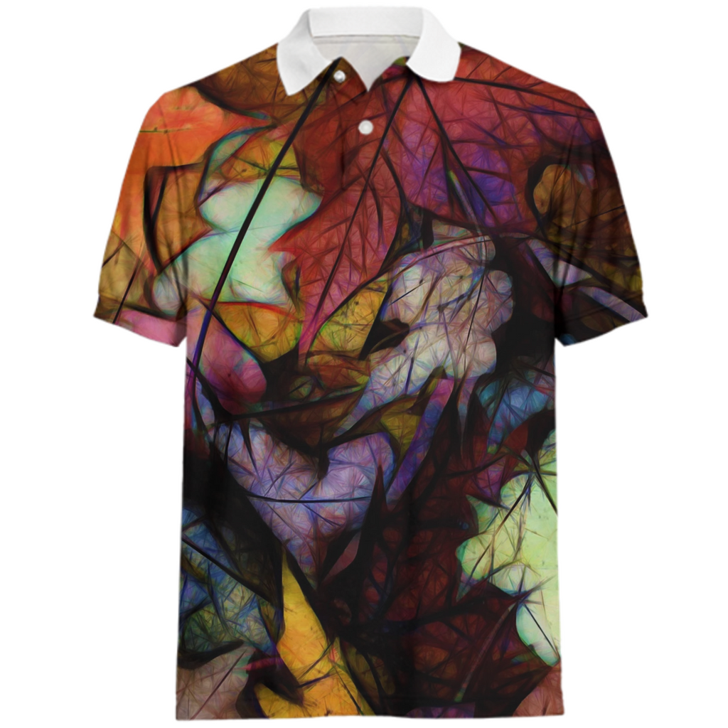 Fall Leaves Abstract Polo Shirt
