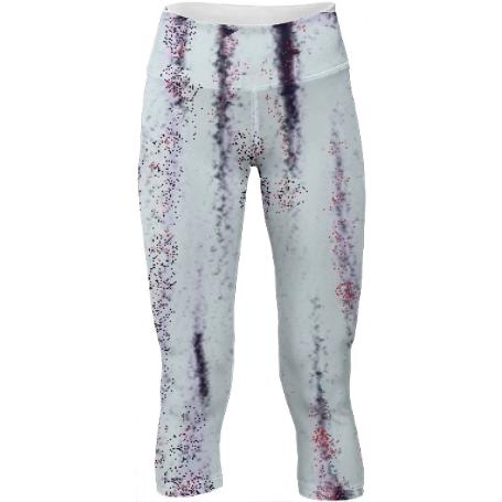 Salt and Red Pepper Chalk Womens Yoga Pants by LadyT Designs