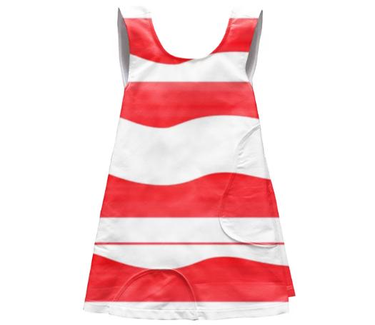 Red And White Apron Dress