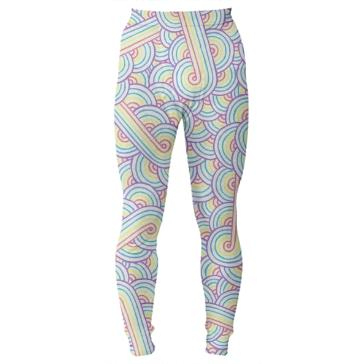 Rainbow and white swirls doodles Thermal Bottom