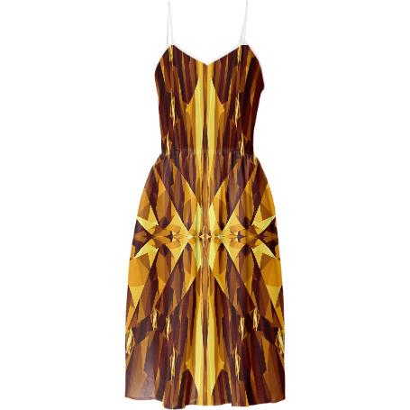 Gold Gem Summer Dress